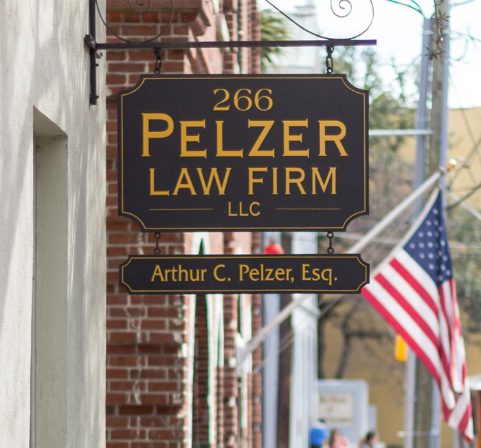 Pelzer Law Firm, LLC sign